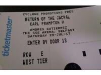 2 x RETURN OF THE JACKAL TICKETS.... Carl Frampton