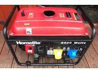 Homelite 2400 Watts 196cc, 12, 110 & 240 v