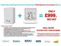 Heatline Capriz2 24 KW BOILER INSTALLATION Supply & Fit & FREE Digital Room Stat.
