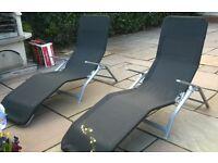 Garden reclining chairs (x2)