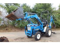 FORD TRACTOR + LOADER + BACK HOE DIGGER MAY PART EXCHANGE LAND ROVER DISCOVERY 3 OR 4