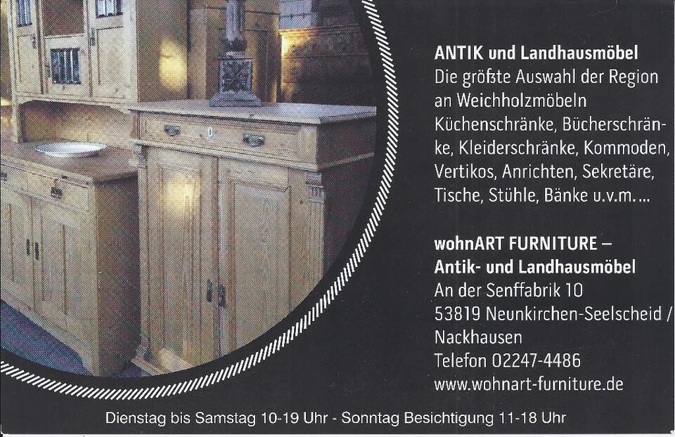 ★wohnART ANTIKMÖBEL ★ Küchenbuffet Weichholz Küchenschrank ★ANTIK in Siegburg