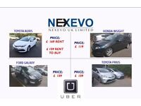 Uber/Minicab ready PCO Hybrid cars 5/7 seaters For Rent From £119/week.
