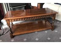 Dark Solid Wood Locke's Coffee Table