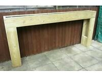 Raised planter 4 foot long, quality pressure treated timber, fully lined