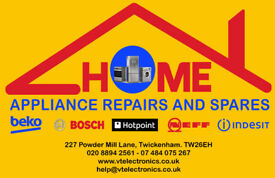 Washing machine repairs, cooker / oven repairs, fridge freezer repairs, appliance spare parts.