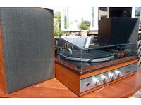 Wye/Garrard Audio-40 Record Player and Speakers/Garrard 2025 TC Deck. Vintage