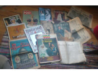 £2 for the lot - - - Retro royalty magazine/ newspaper memorabilia (for crafts/art projects?)