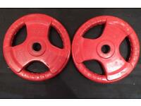 2 x 20Kg Olympic Rubber Weight Plates