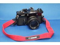 Canon EF Film Camera plus Canon FD 50mm 1.4 lens