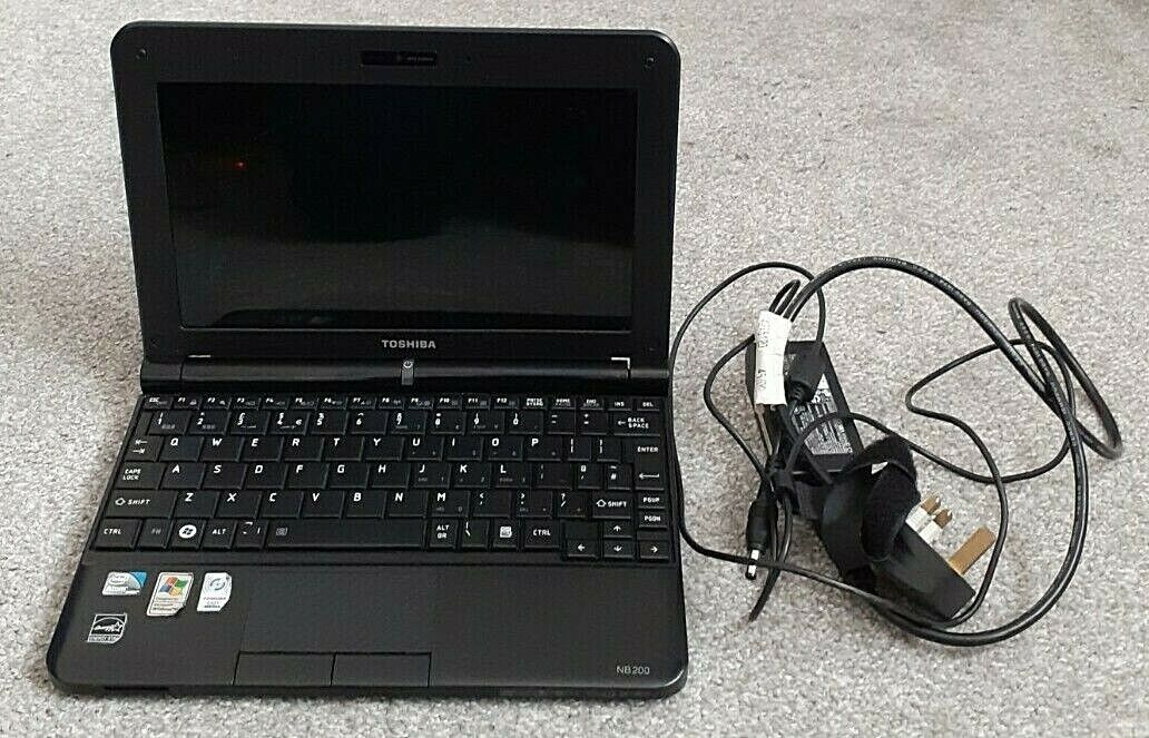 Laptop Windows - Windows 10 Home Toshiba NB200-11L - Intel Core R Atom - 1.024GB RAM - 160GB HDD