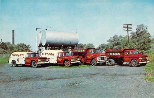 NJ Maywood TIETJEN FUEL CO VINTAGE TRUCK FLEET 1959-64 Business Card 2.25x3.5