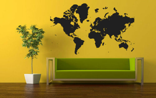 Wall Vinyl Sticker Room Decal Mural World Continents Map