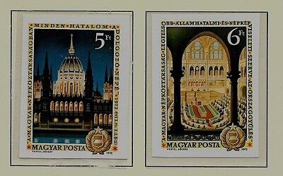 HUNGARY SC 2164-65 NH imperf issue of 1972 - HISTORICAL PLACES