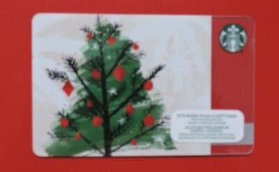 STARBUCKS CANADA CHRISTMAS TREE 2015 GIFT CARD.NO VALUE COLLECTORS ITEM