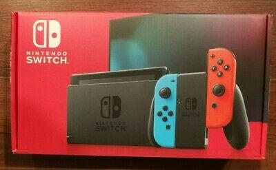New Version Nintendo Switch 32GB Console w/ Neon Blue & Neon Red Joy-Con HAC-001