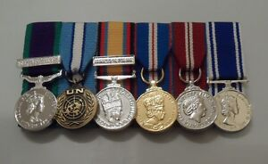 GSM-NI-Cyprus-Iraq-Jubilee-Police-LSGC-Miniature-Court-Mounted-Medals-Mini