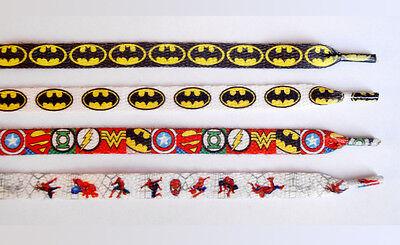 BATMAN JUSTICE LEAGUE SUPERMAN SPIDER MAN Shoelaces Multiple Colors 1 Pair ](Colorful Spider)