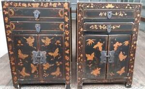 Pair of Asian Influenced Bedside Cabinets Newcastle Newcastle Area Preview