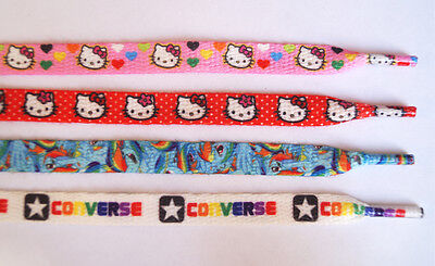 HELLO KITTY RAINBOW DASH CONVERSE Shoelaces Multiple Colors 1 Pair