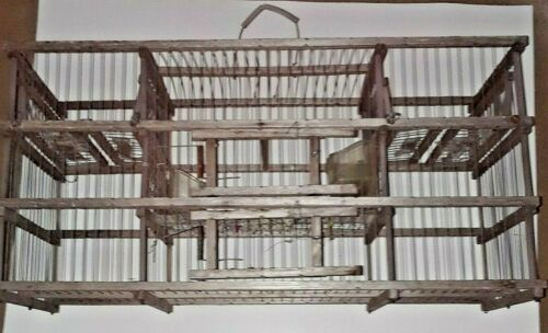 Vintage Racing Homing Pigeon Carrier Crate Cage  FOLK ART WOOD & Wire POULTRY
