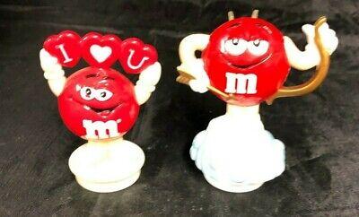 Red M&M Valentine's Day Topper Figures Vintage lot of 3 - M&m Valentine's