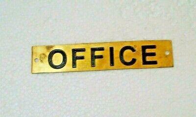 CARPENTER – Marine BRASS Door Sign 34 Boat//Nautical 8 x 1 Inches