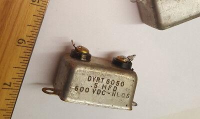 Cornell Dubilier .5uf 600v Pio Bathtub Capacitor Dyrt Tested Good Lot Of 1