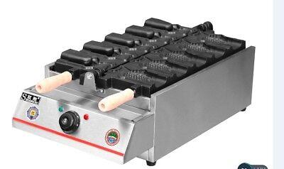 Fish Type Waffle Machineopen Mouth Electrictaiyaki Making Maker Fryer 220v