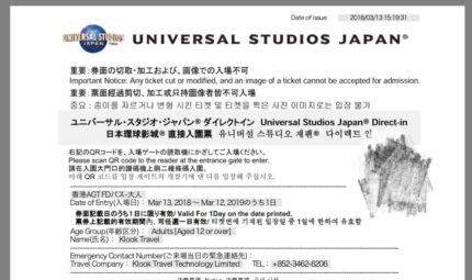 Universal Studio Japan 1 day E-ticket for sale