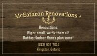 McEathron Renovations+ // Need help with Reno's??