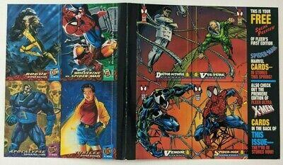 Spider-Man Fleer Ultra X-Men Uncut Sheet Trading Cards Venom Rogue 1994 Jubilee