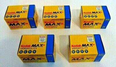 5x Rolls of Kodak MAX 400 ISO 135mm 24 Exp. Negative Film out of date BNIB