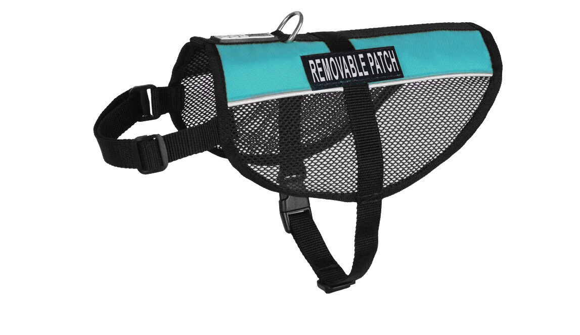 Service Dog Vest Mesh with Removable Reflective Custom Patches 12 Colors