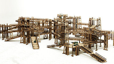 Warhammer 40K Necromunda Scenery Industrial Terrain MEGA Set Batman Terrain A