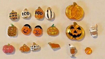 Origami Owl Pumpkin Fall Charms Buy 4 Save $2 - Owl Pumpkin