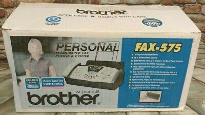 Brother Fax-575 Personal Plain Paper Fax Phone And Copier New In Opened Box
