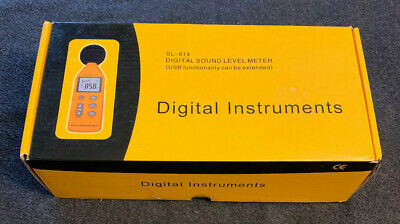 Digital Instruments Digital Sound Meter Level 40-130db Model Sl-814