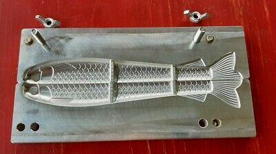 1 oz and 3//4 oz CNC Aluminum New Design 5 Cavity Jigging Minnow Jig Mold