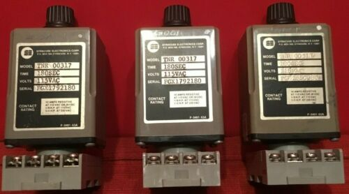 Syracuse Electronics TNR-00317 180 Second 115V Time Relay Tested