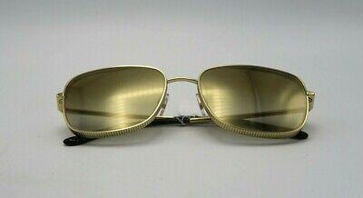 Dolce & Gabbana 58mm Mirror Square Gold Frame Brown Gradient Sunglasses DG222358