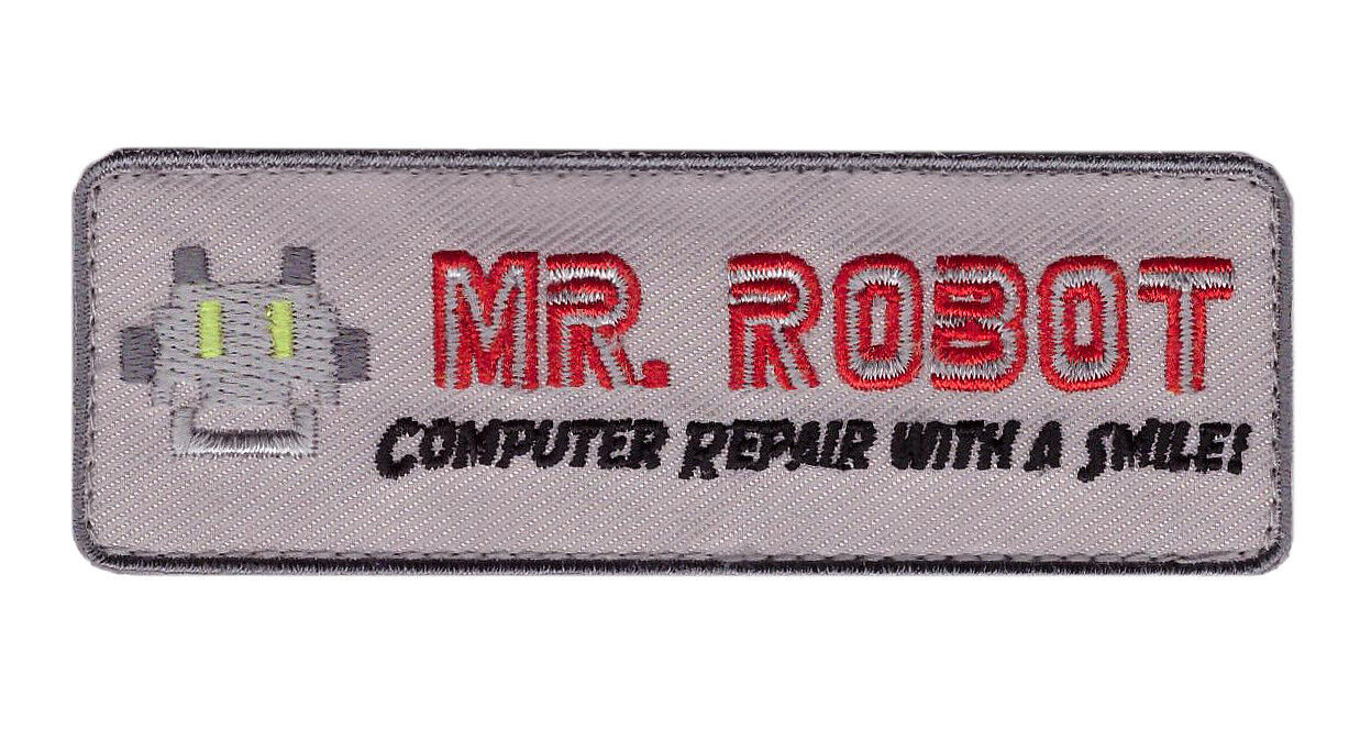 Iron on TAB Mr Robot series TV Costume Jacket cosplay Cyber