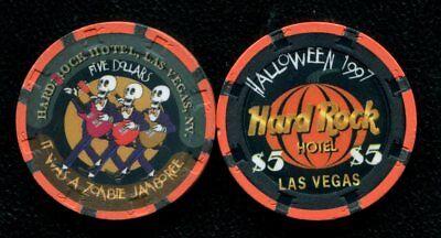 $5 Las Vegas Hard Rock Happy Halloween 1997 Casino Chip - NM