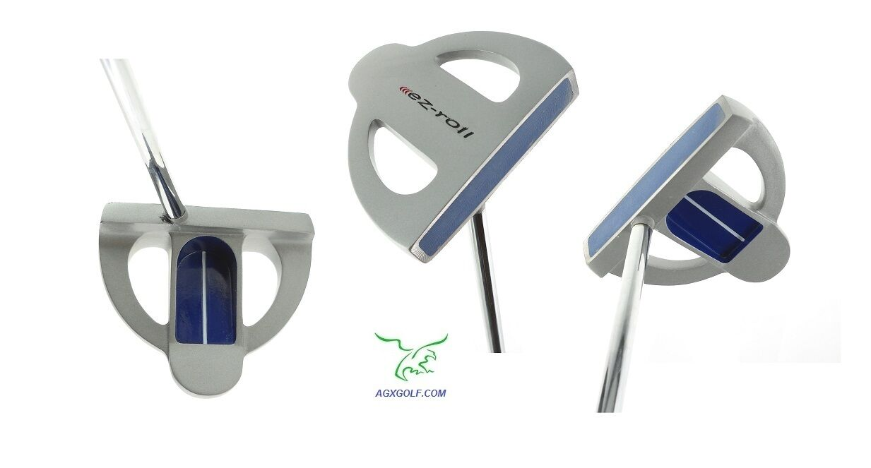 AGXGOLF MENS RIGHT EZ TWO-BALL TYPE PUTTER POLYMER INSERT+CO