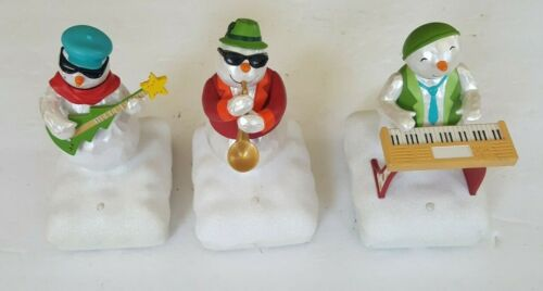 Hallmark Wireless Snowman Band Lot of 3 - Christmas Music 2010
