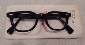 Vintage American Optical Hybrid Stadium Black 44/22 Men's Plastic Eyeglass Frame