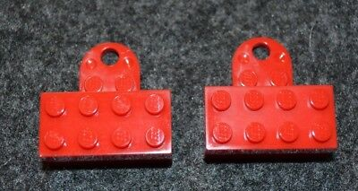 (2) 2x4 Red Minifigure Refrigerator Magnetic Display Bricks ~ Lego ~ NEW for sale  Shipping to India