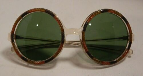Vintage MAY OPTICAL Round Sunglasses New Old Stock #353