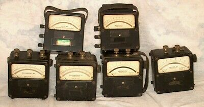Vintage 1940s Weston Test Instrument Meters - Set Of 6 Meters