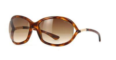 Tom Ford Jennifer TF0008 52F FT8 Dark Havana Sunglasses Brown Gradient Lens 61mm